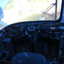bus dashboard removal