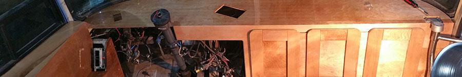 bus dashboard preliminary installation