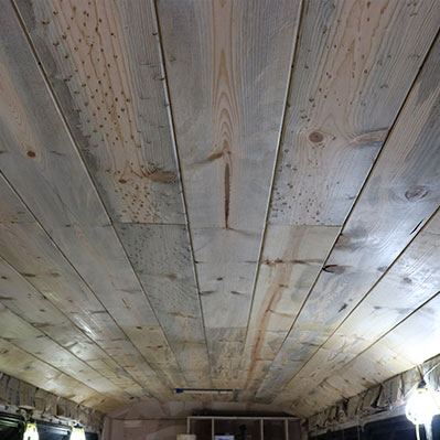 bus ceiling installation