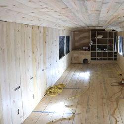 bus interior wall installation