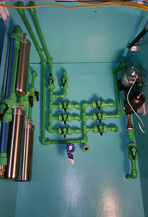 bus exterior plumbing
